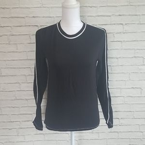 Rag & Bone Black Long Sleeve Tee Shirt